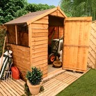 6'x6' Garden Shed - Economy Rustic 20S Overlap Apex Garden Shed