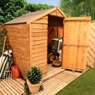 BillyOh 20S Windowless Rustic Economy Overlap Apex Sheds - 4'x6'