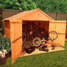 BillyOh Extra Wide Bicycle Shed 4'x7'