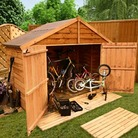 BillyOh Extra Wide Bike Store Shed 3'x7'