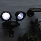 Solar Powered Twin Security Light