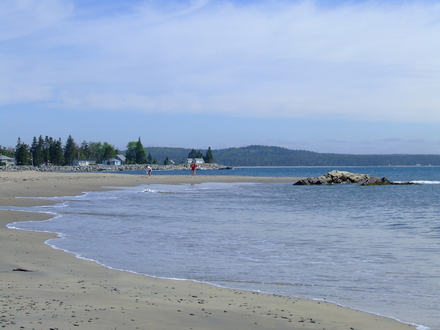 Here S The Beach It A Series Of Small Coves With Rocky Outcrops In Between