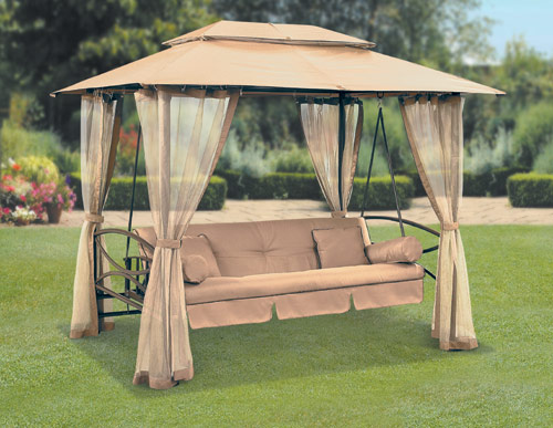 Suntime Luxor Swing Gazebo with Free Cover on Suntime Outdoor Living id=95457
